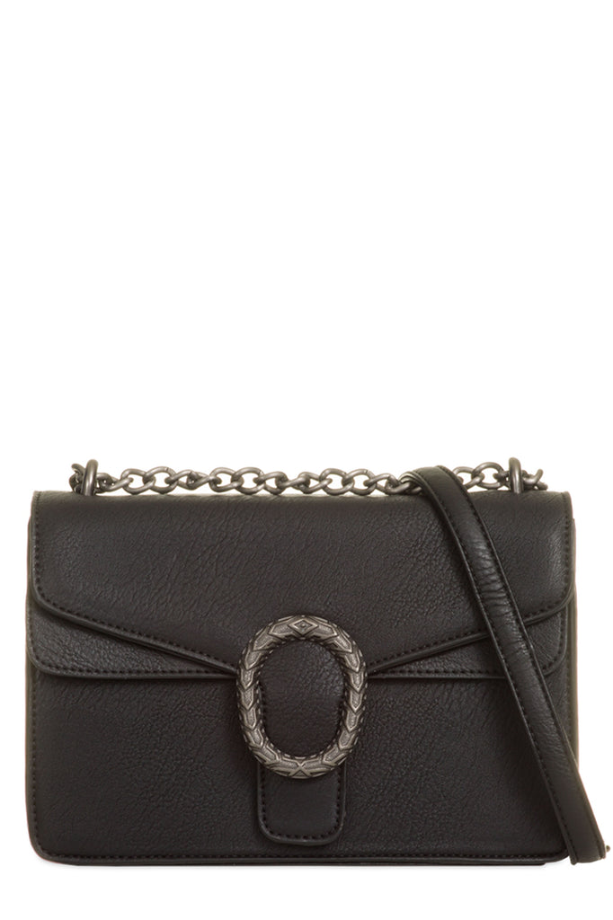 Tommie Black Structured Box Bag