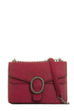Tommie Burgundy Structured Box Bag (18799919120)
