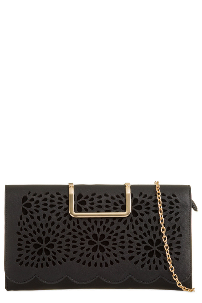 Toro Black Leatherette Cut Out Clutch Bag (9563738576)