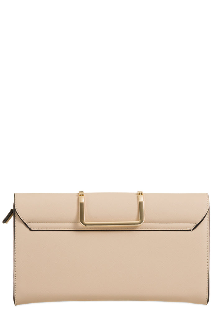 Toro Nude Leatherette Cut Out Clutch Bag (9563735056)