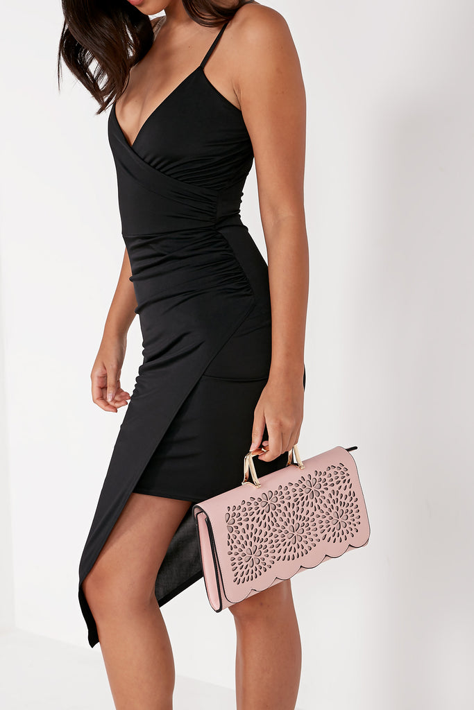 Toro Rose Leatherette Cut Out Clutch Bag