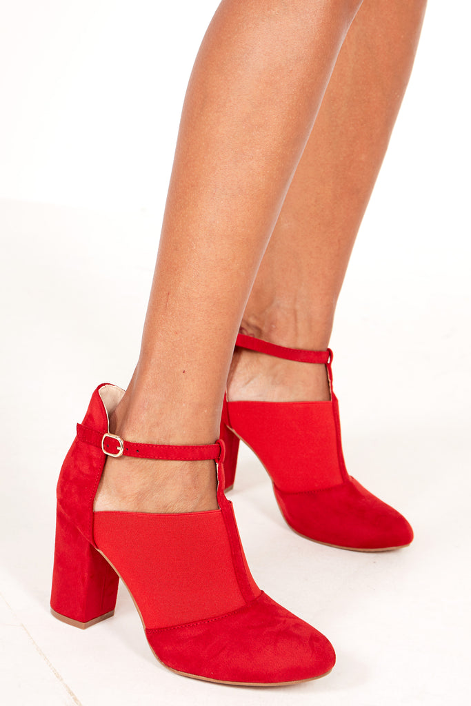 Trisha Red Suedette Shoe Boot