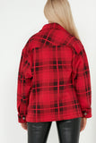 Trixibelle Red Check Oversized Shacket