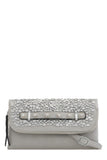 Tullip Grey Leatherette Stud Bag (1482469113922)