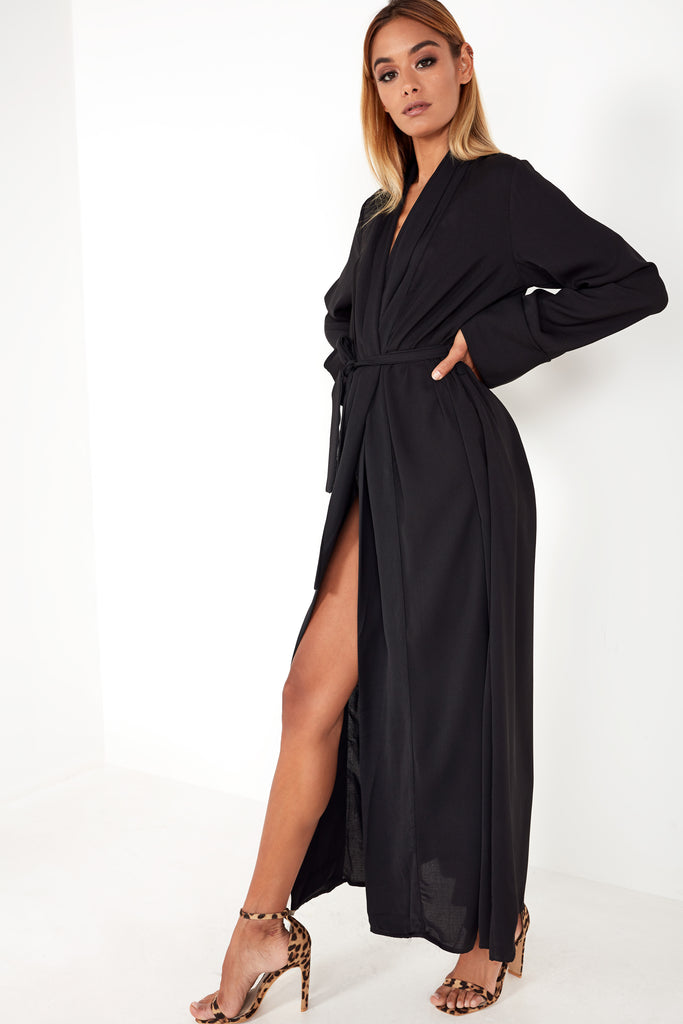 Tyne Black Duster Jacket