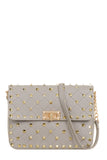Ulrika Grey Gold Stud Bag (18791694352)