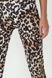 Unique Leopard Print Slim Leg Trousers
