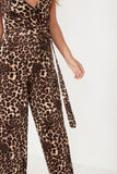 Unnie Leopard Print Wrap Over Jumpsuit