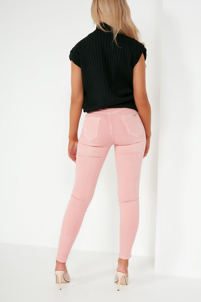 Ursella Pink Stretch Skinny Jeans