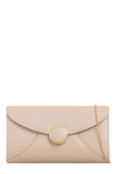 Valo Beige PU Gold Chain Bag (18884755472)