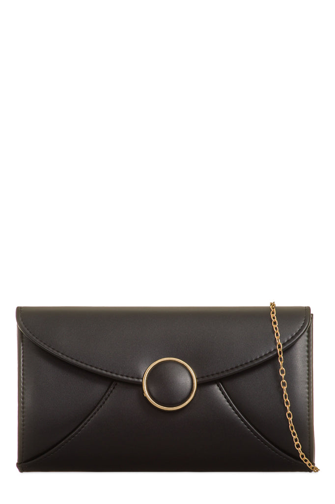 Valo Black PU Gold Chain Bag (18883543056)