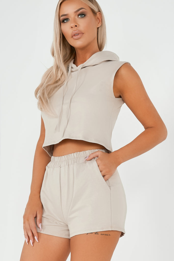 Vanessa Stone Hooded Tee & Shorts Co Ord