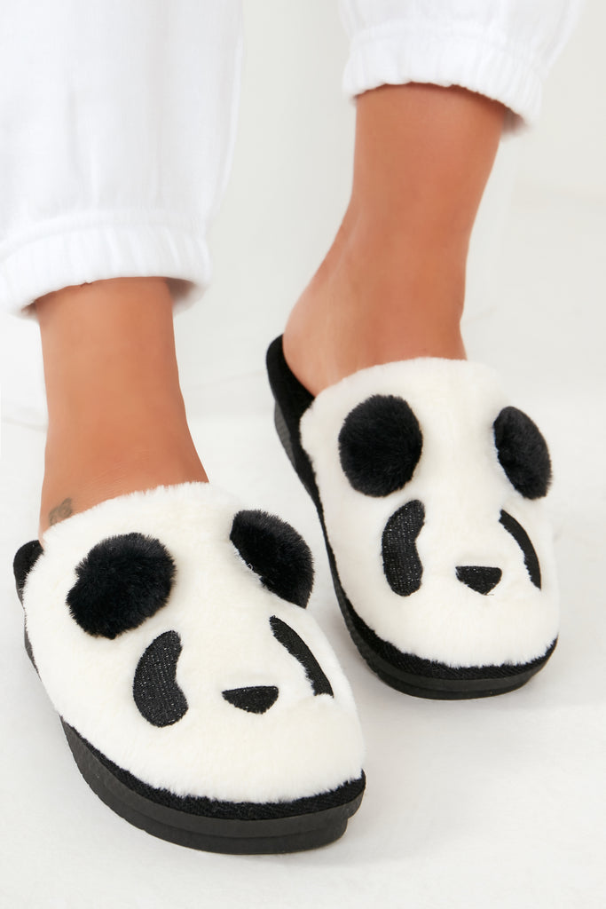 Vee Monochrome Animal Slippers