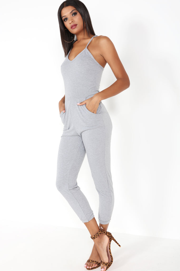 Verona grey jersey jumpsuit for Uniform verona