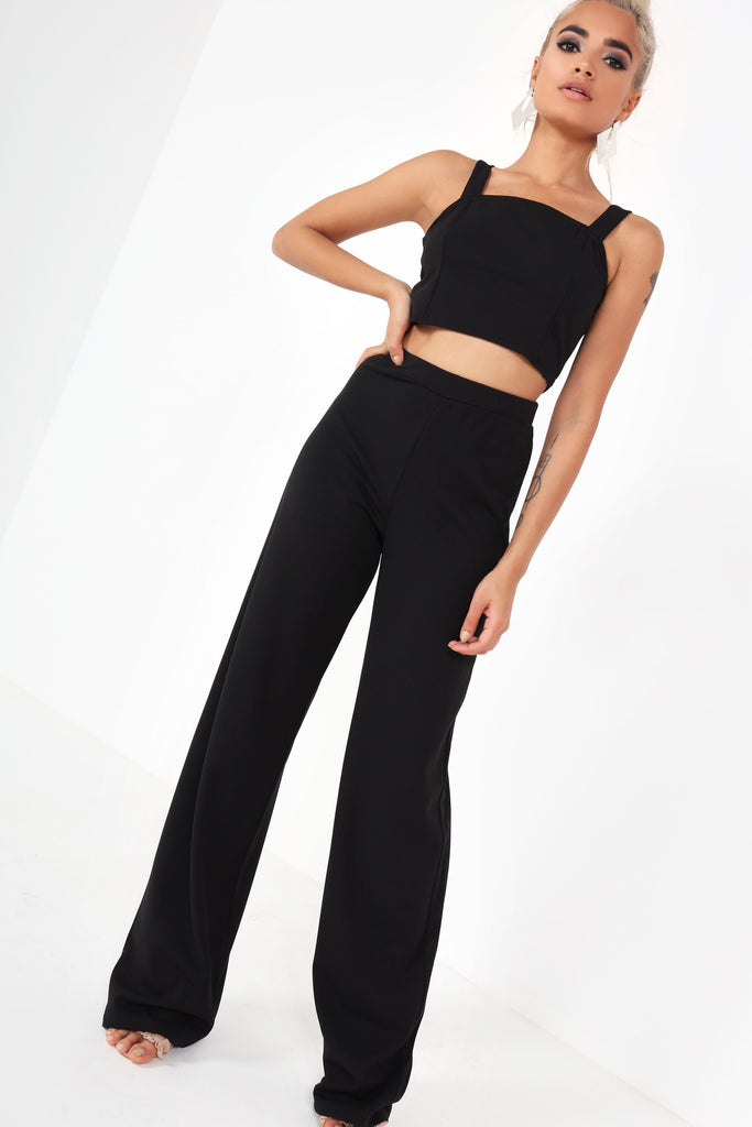 Walker Black Wide Leg Co Ord (9973015056)