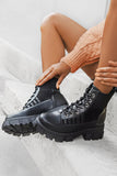 Waverly Cleated Platform Leather Boot