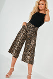 Wendy Leopard Print Belted Culottes