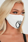 White Peace Sign Face Mask