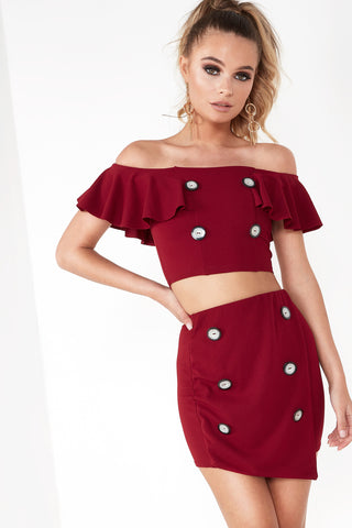 b8e5f6c0ed2a72 Wola Wine Button Detail Crop Top