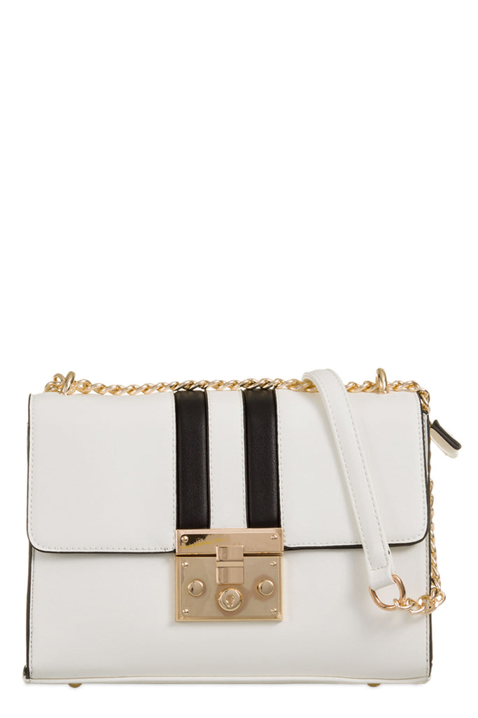 Wonder White Gold Chain Shoulder Bag (8431679120)