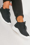 Xandra Black Knitted Trainers