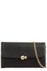 Yana Black Textured Faux Leather Clutch Bag