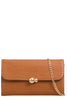 Yana Tan Textured Faux Leather Clutch Bag