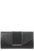 Zavina Black Zip Detail Clutch Bag