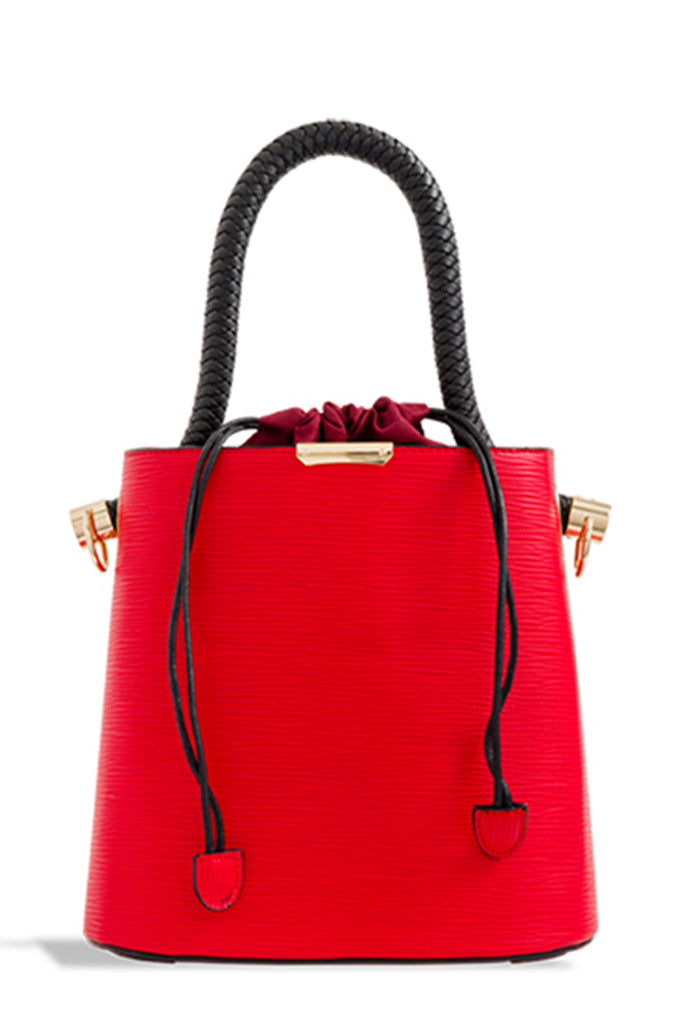 Zin Red Leatherette Tote Bag (1625202917442)