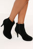 Zinnie Black Suede Ankle Boot
