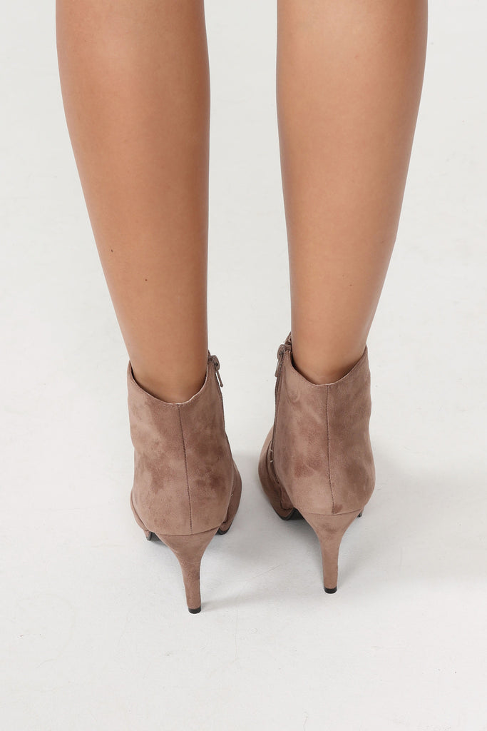Zinnie Mocha Suede Ankle Boot