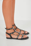 Zonia Black Stud Gladiator Sandals