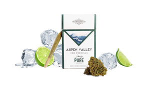 Aspen Valley Hemp CBD Bud Pre-Rolls- 12 pack, Frosted Lime Flavor