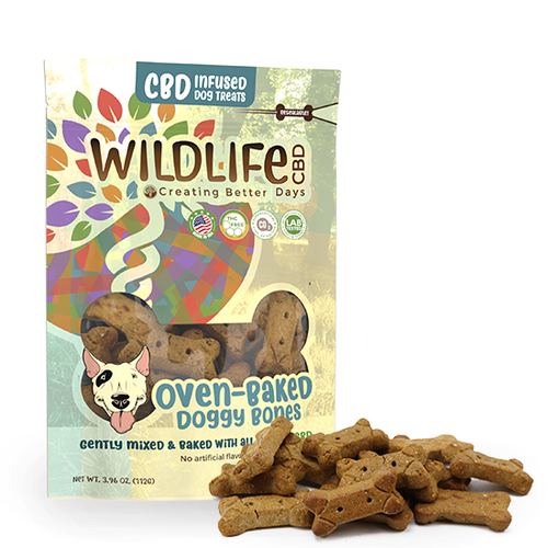 Wildlife CBD-Infused Large Dog Bone Treats 150mg