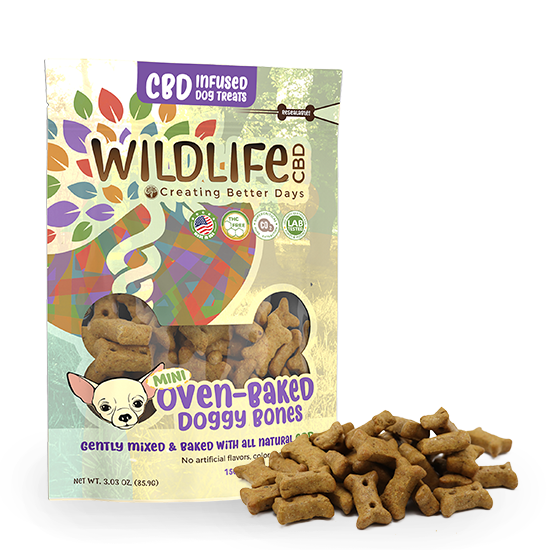 Wildlife CBD-Infused Mini Dog Bone Treats 150mg