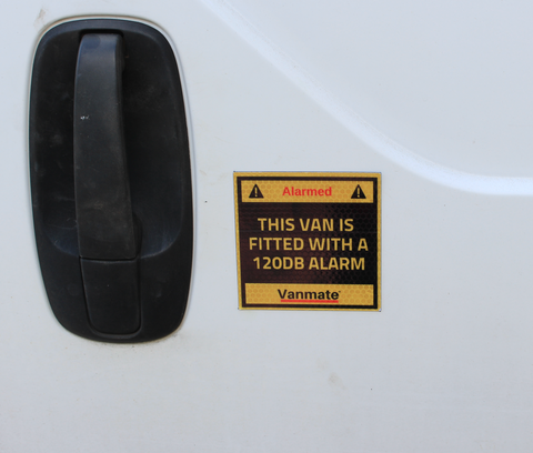 Vanmate Van Alarm + Sticker Set Bundle