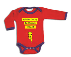 Not Going To Change Itself organic designer babygrow
