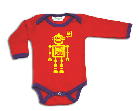 Girl Robot Long Sleeved Baby Grow