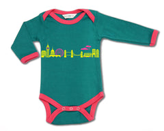 London Skyline organic designer babygrow