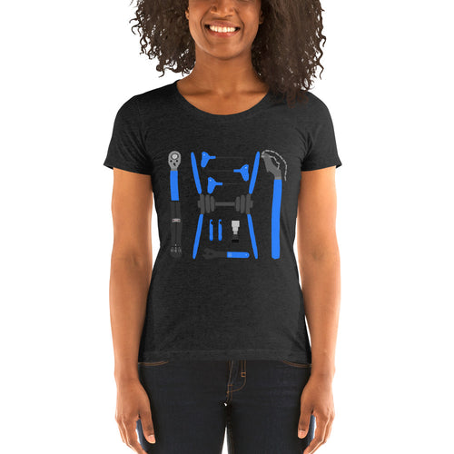 Ladies Bike Tools t-shirt by Cycling T