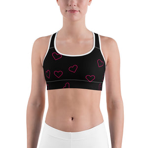 Hearts Sports bra by Cycling T