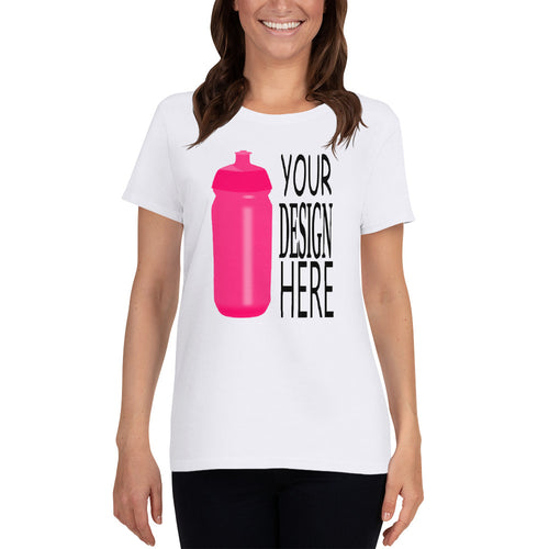 Custom Women's T-shirt in 7 colors no minimum order.