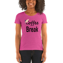 Load image into Gallery viewer, Coffee Cycling Ladies t-shirt by Cycling T
