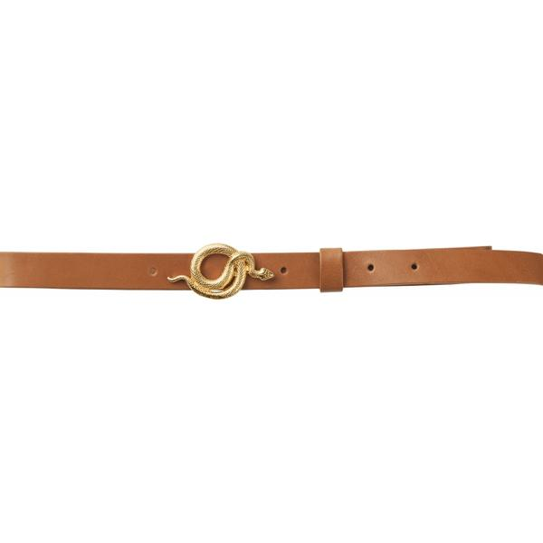 Notes du Nord - Paxton Leather Belt (gold/cognac)