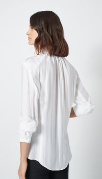 Smythe - Utilitarian Blouse - PS2008 (White Shadow Stripe)