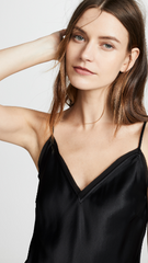 Frame Denim - Satin Lounge Tank (Noir)