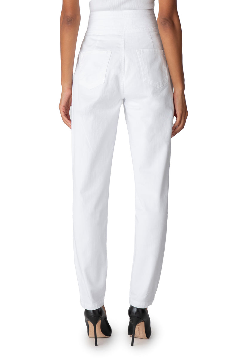 J Brand - Carey High Rise Tapered (White)