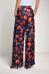 SET - Casual Pants with Flower Print - 63564