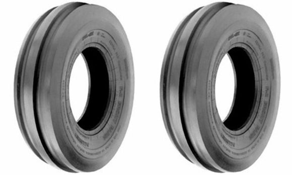(2) TWO- NEW 4.00-8 TRI RIB 4PLY TRACTOR TIRES