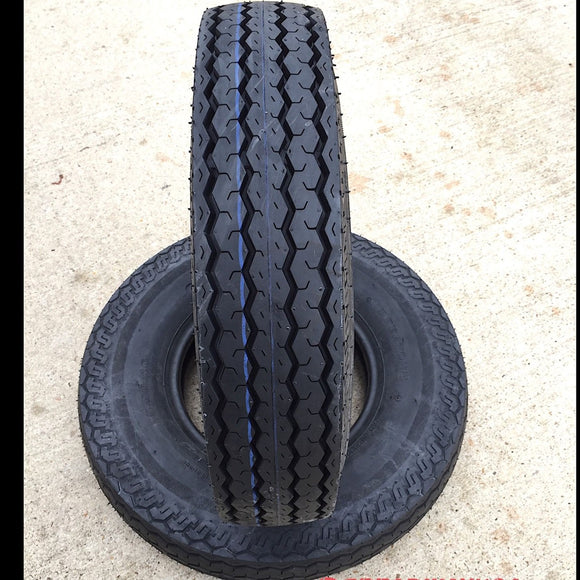 2- 500x10, 500-10, 5.00x10, 5.00-10 Eight ply Tubeless Trailer Tires Boat 8 PLY